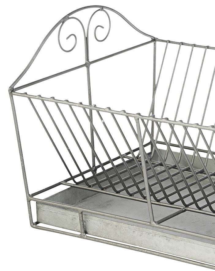 metall abtropfgestell von madam stoltz geschirrablage zink tablett neu ebay. Black Bedroom Furniture Sets. Home Design Ideas
