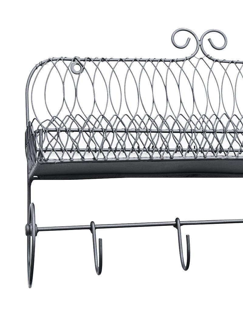 madam stoltz gew rzregal mit haken regal aus metall. Black Bedroom Furniture Sets. Home Design Ideas