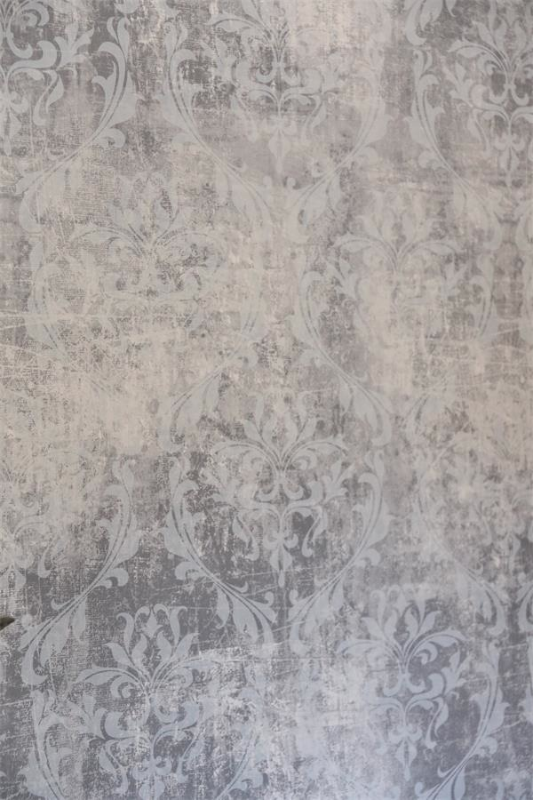 8 48 m vintage wallpaper by jeanne d 39 arc living 10x0 53 m grey patterned ebay. Black Bedroom Furniture Sets. Home Design Ideas