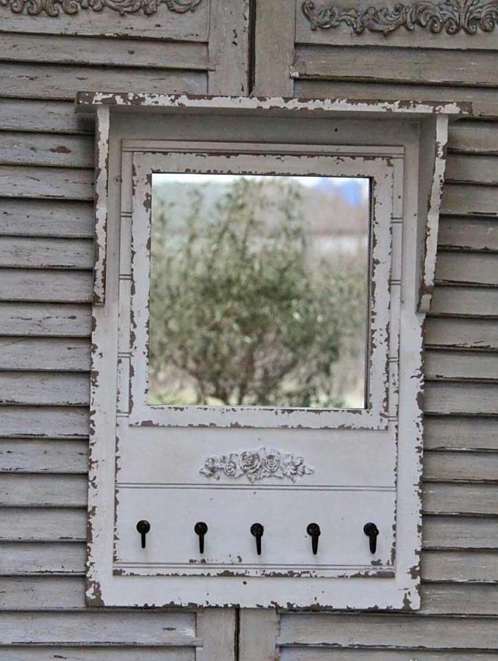 chic antique spiegel mit ablage haken antik shabby. Black Bedroom Furniture Sets. Home Design Ideas
