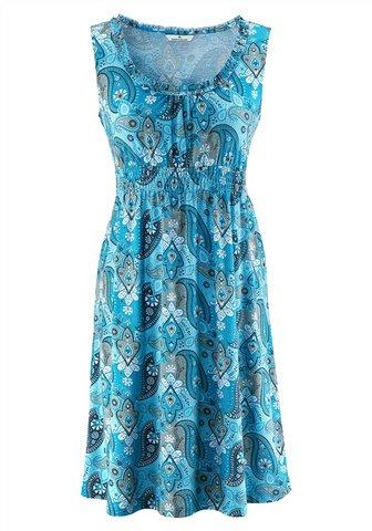 tom tailor sommerkleid knielanges kleid paisley blau. Black Bedroom Furniture Sets. Home Design Ideas